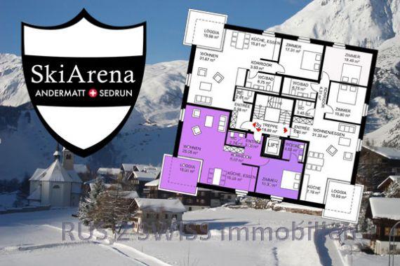 Апартаменты в Граубюндене, Швейцария, 93 м2 - фото 1