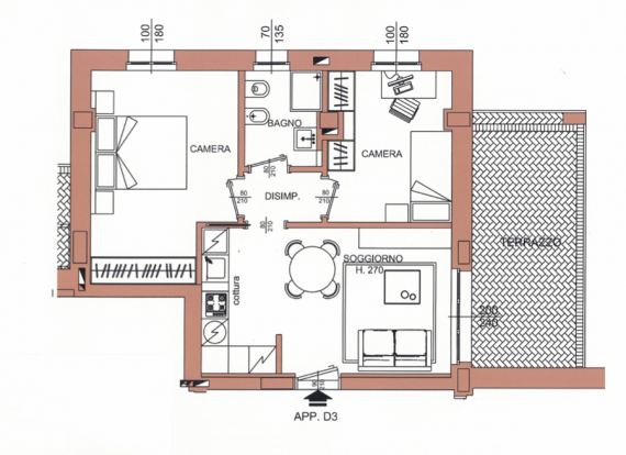Апартаменты в Милане, Италия, 60 м2 - фото 1