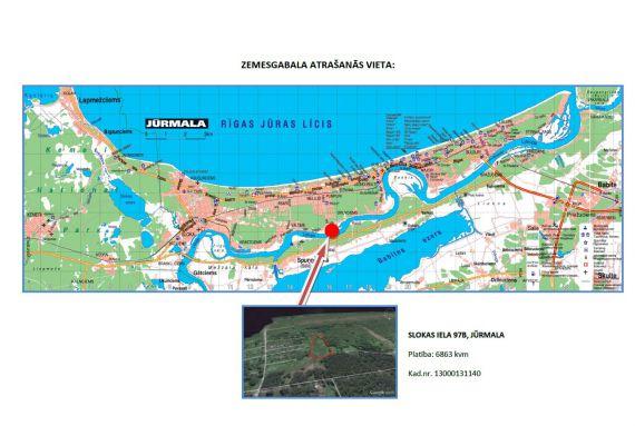 Земля в Юрмале, Латвия, 6863 м2 - фото 1