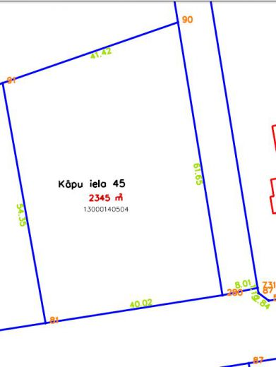 Земля в Юрмале, Латвия, 2345 м2 - фото 1