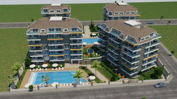 Апартаменты в Аланье, Турция, 66 м2 - фото 1