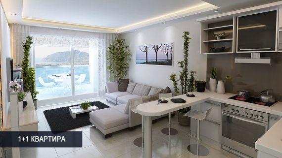 Квартира в Махмутларе, Турция, 70 м2 - фото 1