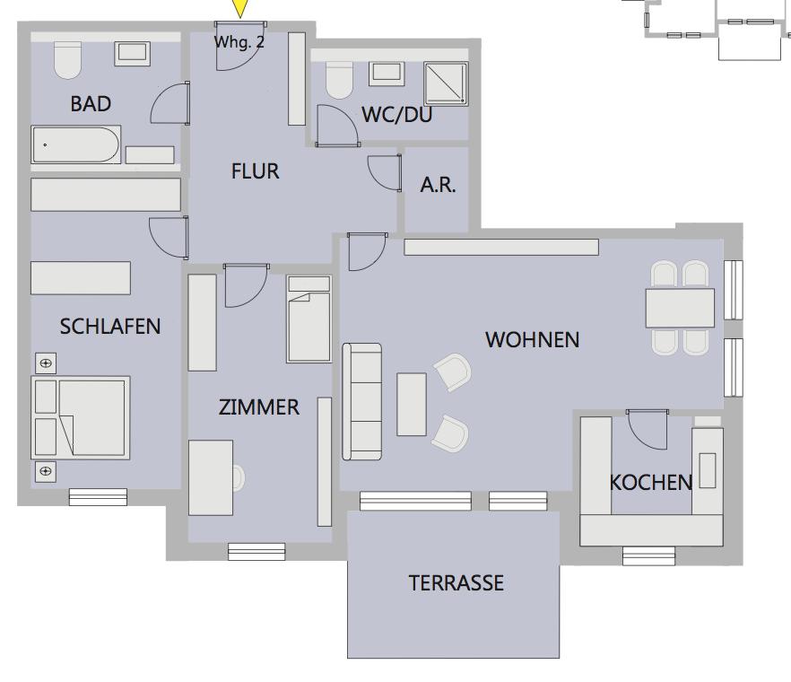 Квартира в Южной Баварии, Германия, 100 м2 - фото 1