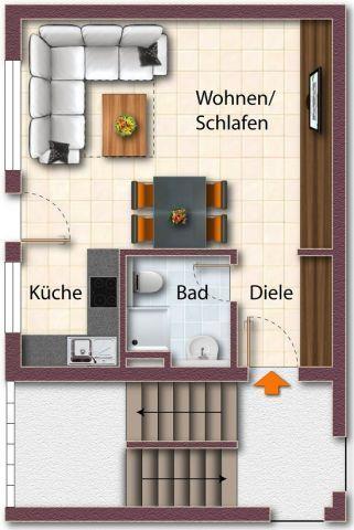 Квартира в Лейпциге, Германия, 33 м2 - фото 1