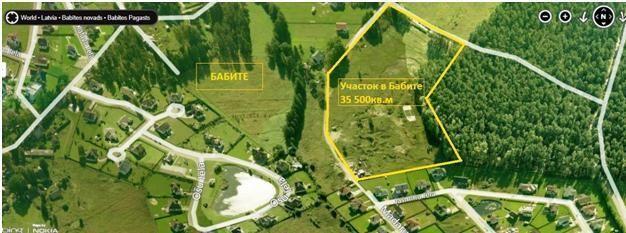 Земля в Бабите, Латвия, 35500 сот. - фото 1
