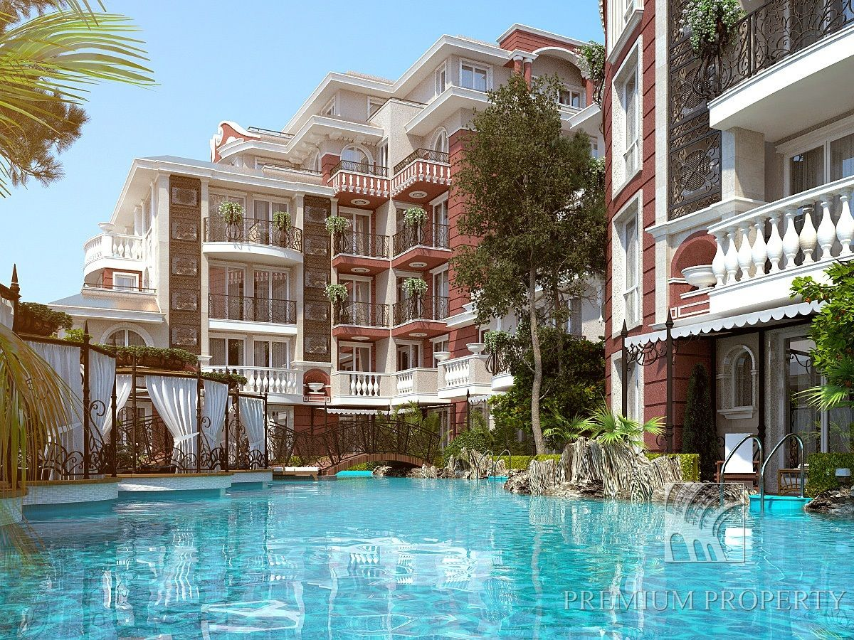 Апартаменты на Солнечном берегу, Болгария, 54.43 м2 - фото 1