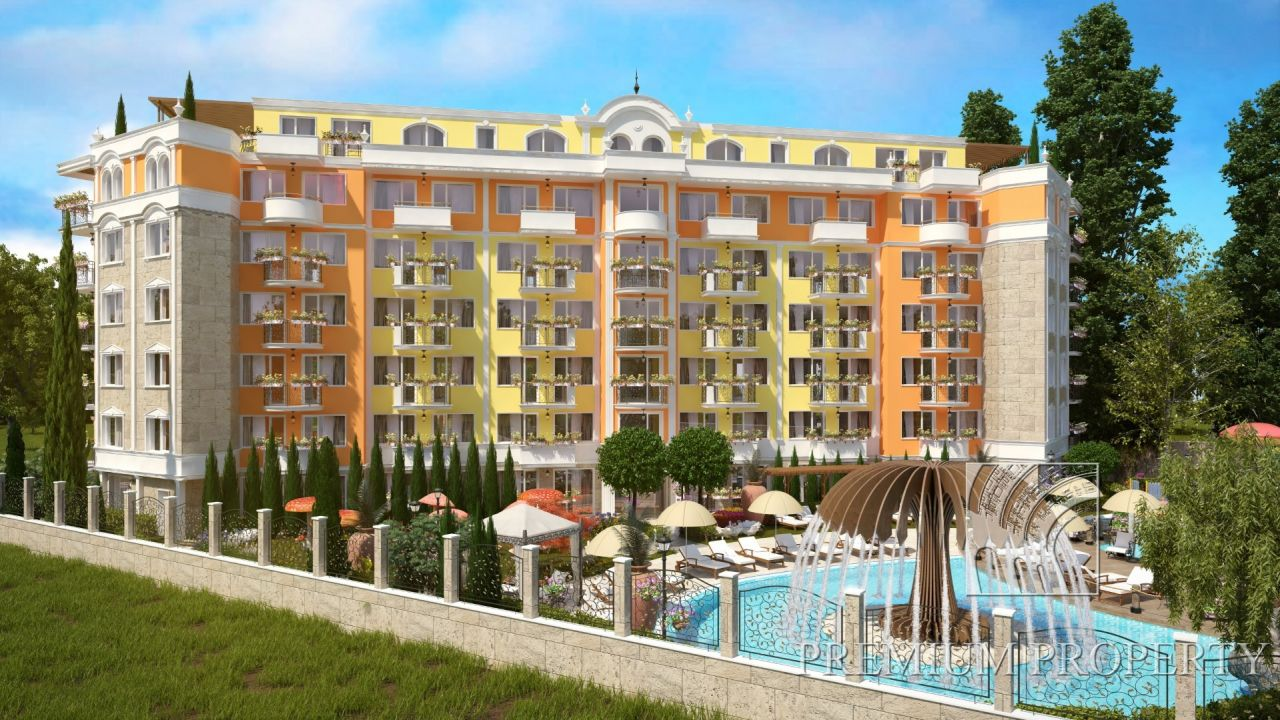 Апартаменты на Солнечном берегу, Болгария, 45.03 м2 - фото 1