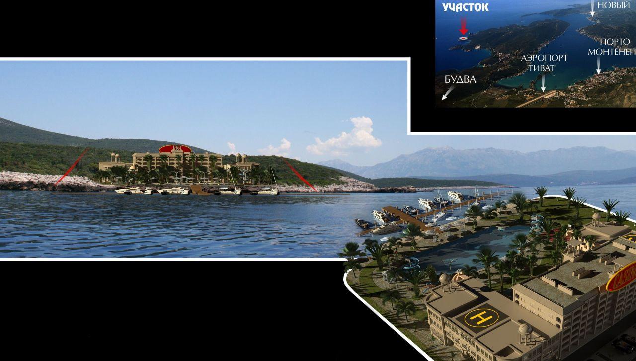 Земля на полуострове Луштица, Черногория, 25323 м2 - фото 1