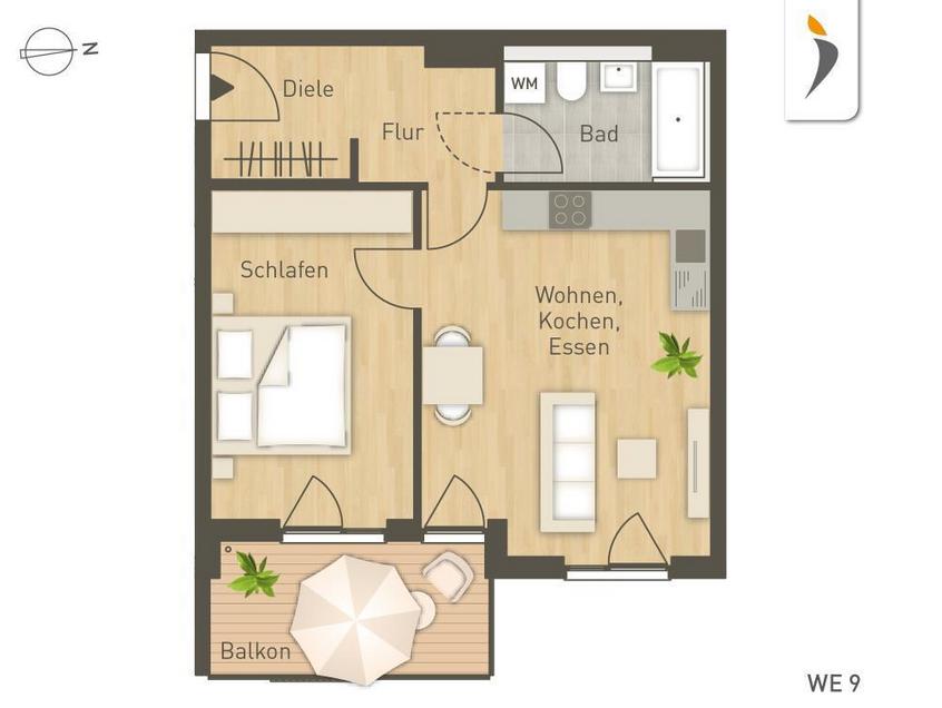 Квартира в Мюнхене, Германия, 56 м2 - фото 1