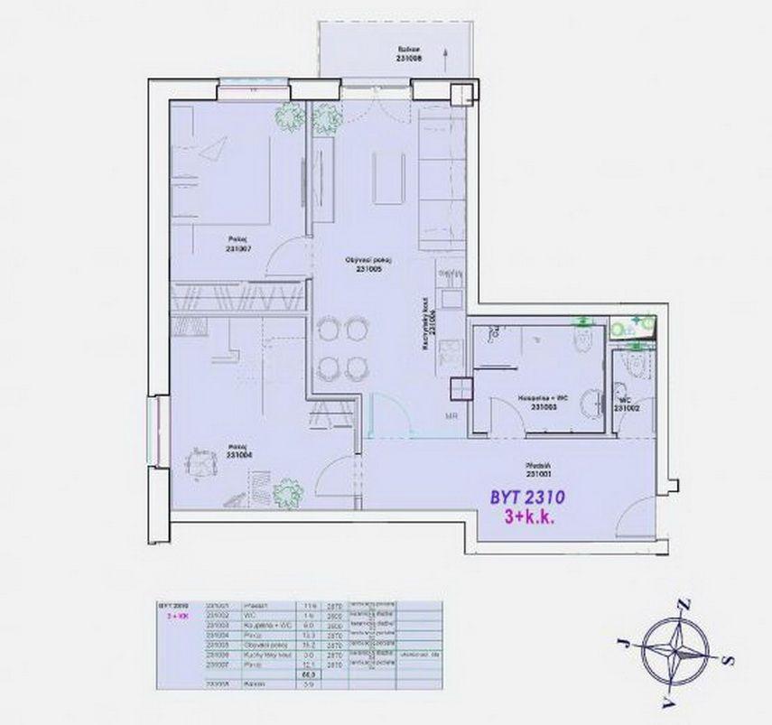 Квартира в Карловых-Варах, Чехия, 72 м2 - фото 1