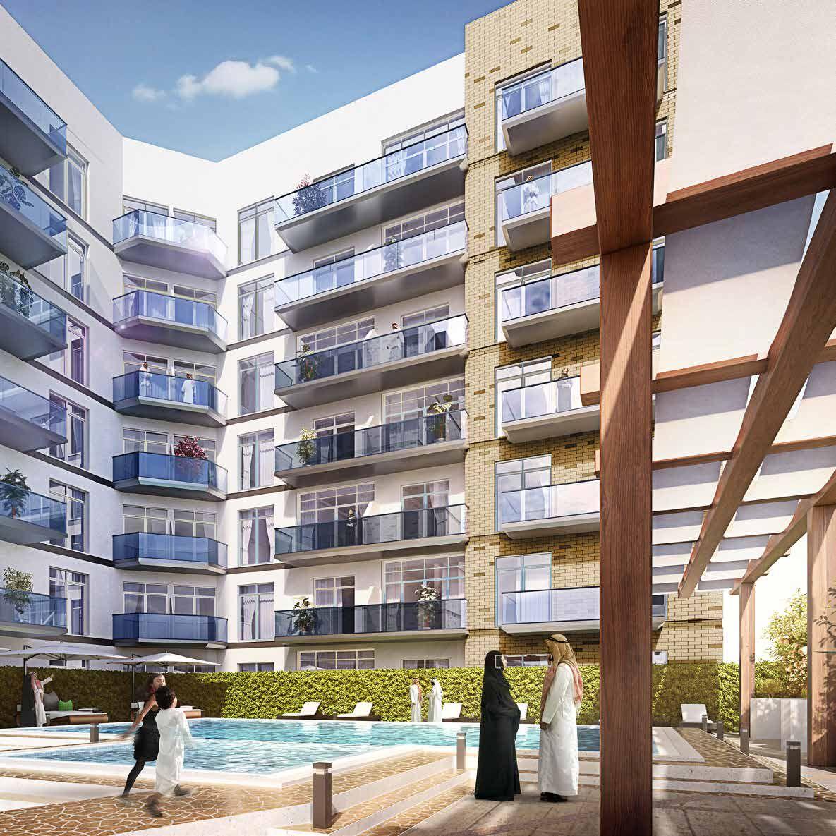 Отель, гостиница в Дубае, ОАЭ, 56.3 м2 - фото 1