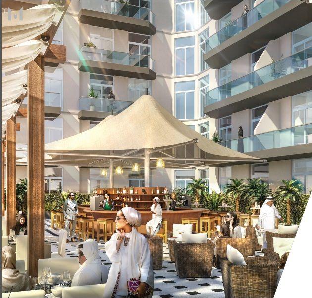 Отель, гостиница в Дубае, ОАЭ, 48 м2 - фото 1