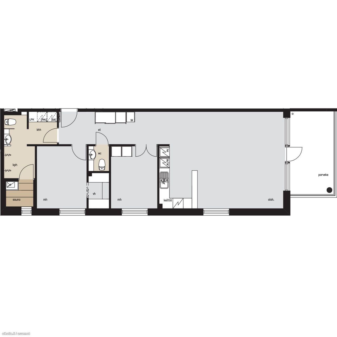 Апартаменты в Рауха, Финляндия, 90.5 м2 - фото 9