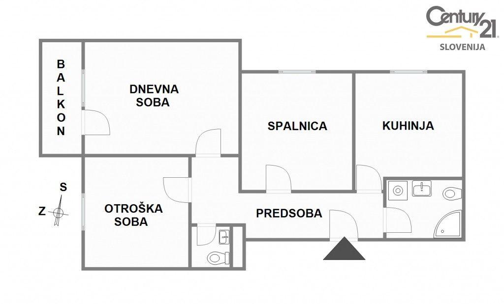Квартира в Мариборе, Словения, 81 м2 - фото 8