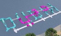 В Дубае открыли надувной парк развлечений на воде
