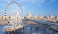 В Нидерландах открылось первое в мире колесо обозрения над морем