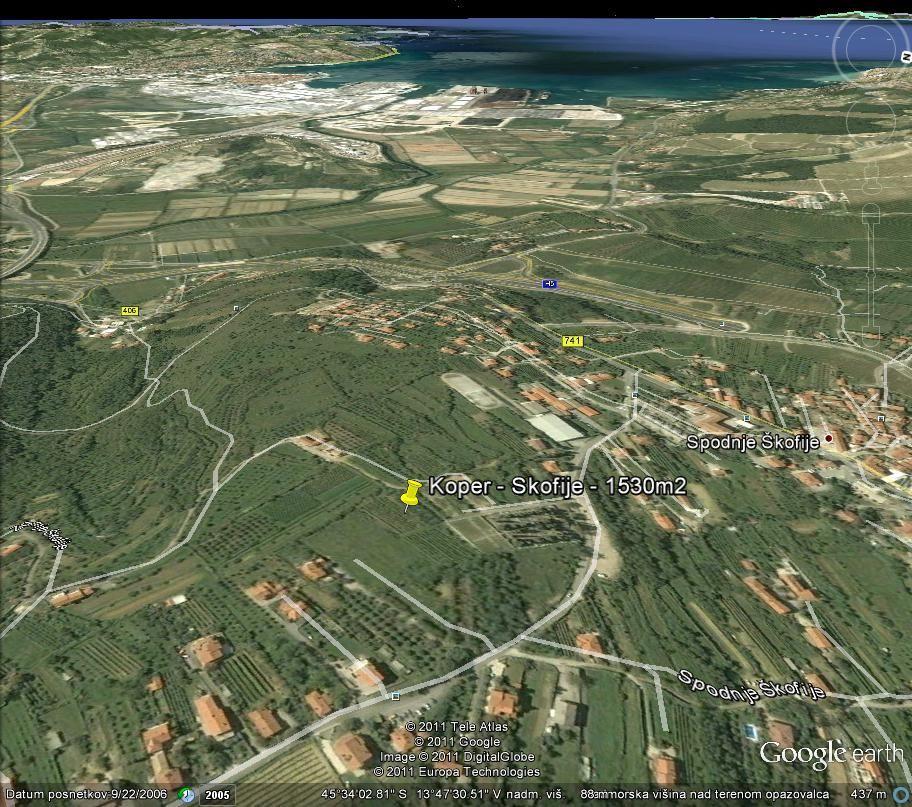 Земля в Копере, Словения, 1530 м2 - фото 1